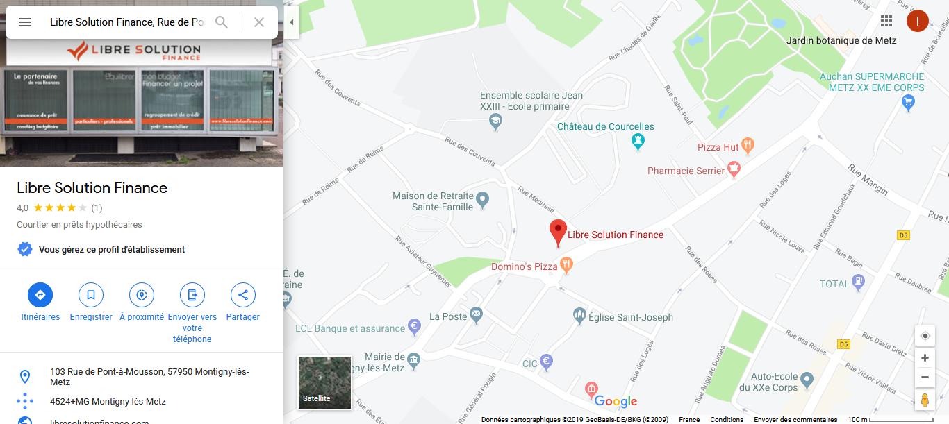 plan d'accès agence de Montigny les Metz